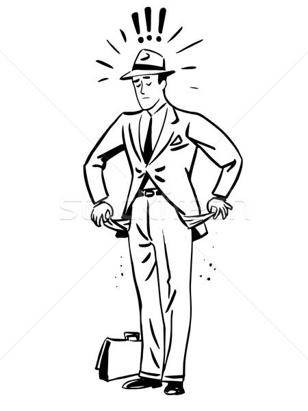 нищеты деньги бизнесмен пусто линия искусства Сток-фото © rogistok