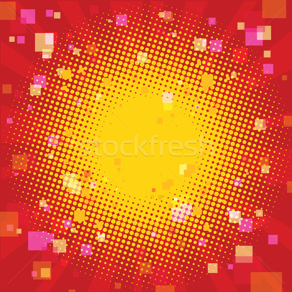 Pop art summer background with a square blur Stock photo © rogistok