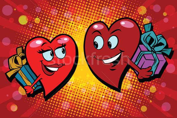 Surprise gifts Valentine heart Stock photo © rogistok