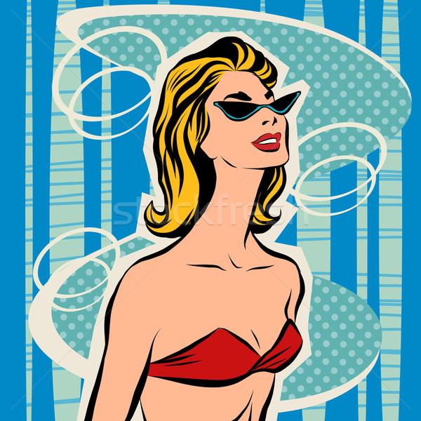 Hermosa niña bikini mujer playa verano Foto stock © rogistok