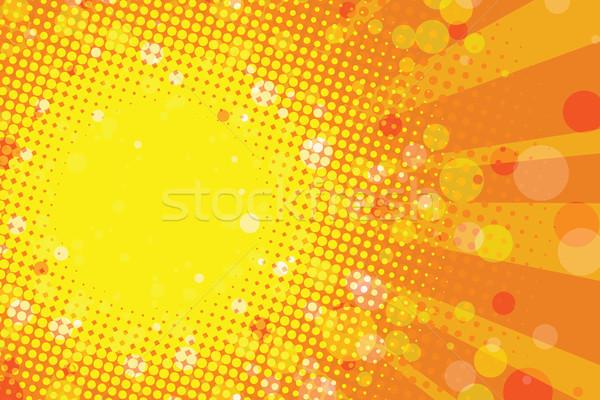 Stok fotoğraf: Güneşli · yaz · tropikal · soyut · pop · art · Retro