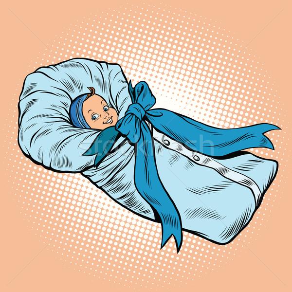 Pop art retro newborn infant, medical health and pregnancy Stock photo © rogistok