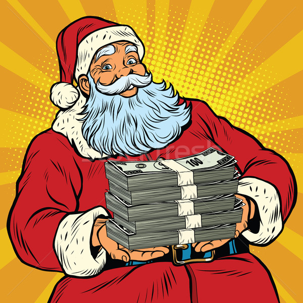 Santa Claus with money Stock photo © rogistok