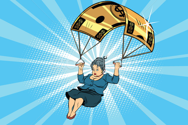 Stock photo: woman Golden parachute financial compensation in the business