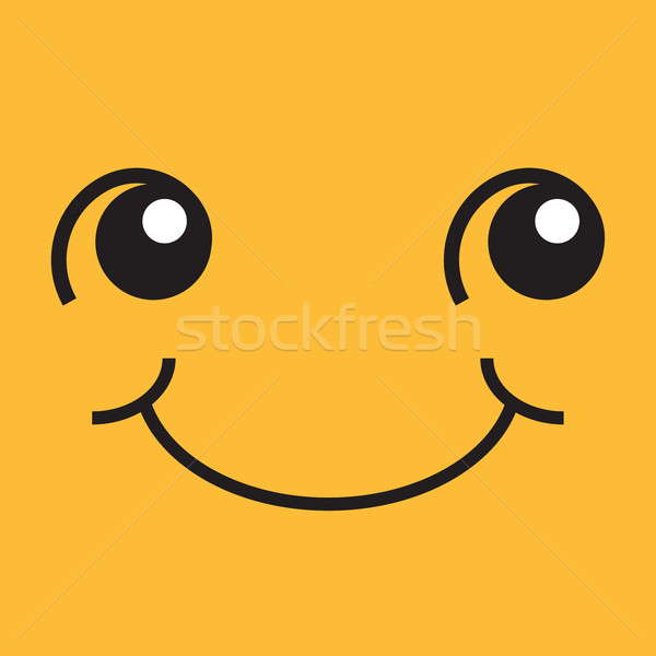 Rosto sorridente olhos boca ilustração praça Foto stock © rogistok