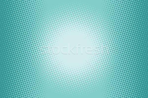 Yeşil yarım ton komik pop art örnek vektör Stok fotoğraf © rogistok