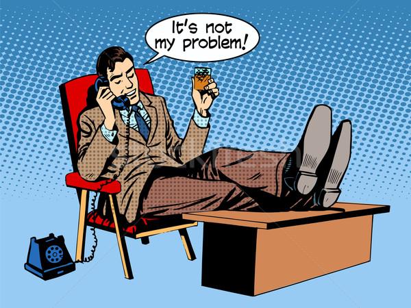 Businessman talks business concept is not my problem phone Stock photo © rogistok