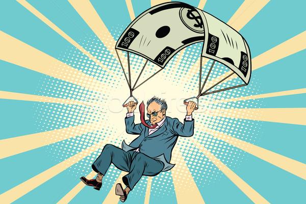 Jubilado dorado paracaídas financieros negocios Foto stock © rogistok