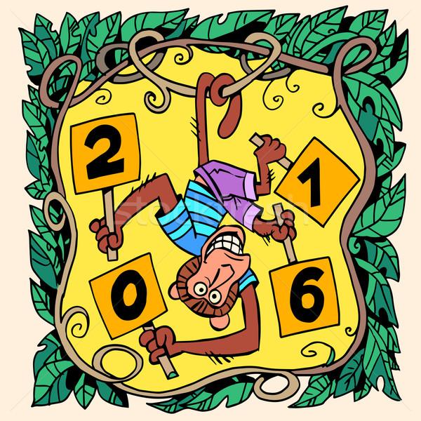 Monkey new year 2016 Stock photo © rogistok