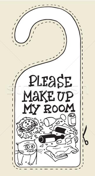 Otel imzalamak kedi makyaj benim oda Stok fotoğraf © rogistok