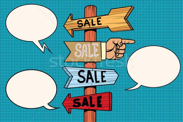 Pointers arrow sale signs navigation Stock photo © rogistok