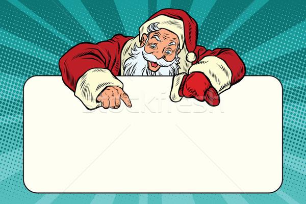 Noel baba karakter afiş bo pop art Retro Stok fotoğraf © rogistok