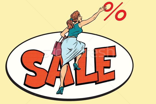 Woman customer, sales and discounts Stock photo © rogistok