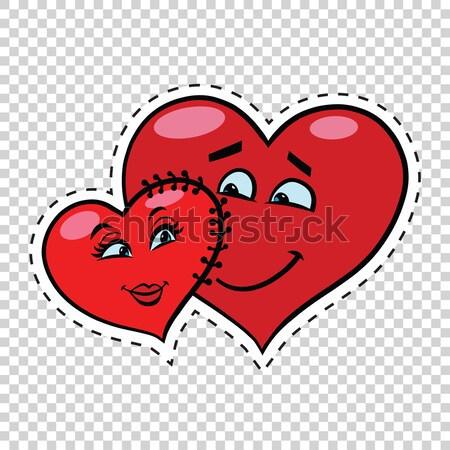 Wedding groom and bride, Valentine heart Stock photo © rogistok