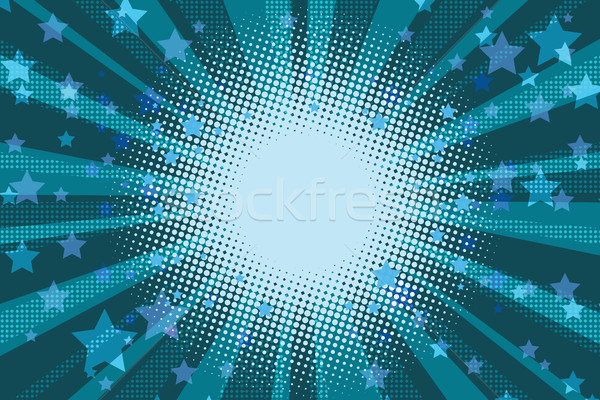 Night stars holiday blue pop art background Stock photo © rogistok