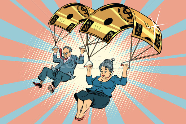 Golden parachute financial compensation in the business Stock photo © rogistok