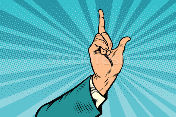 index finger up gesture Stock photo © rogistok