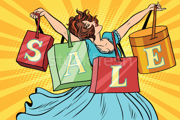 Woman with sale bags shopping Stock photo © rogistok