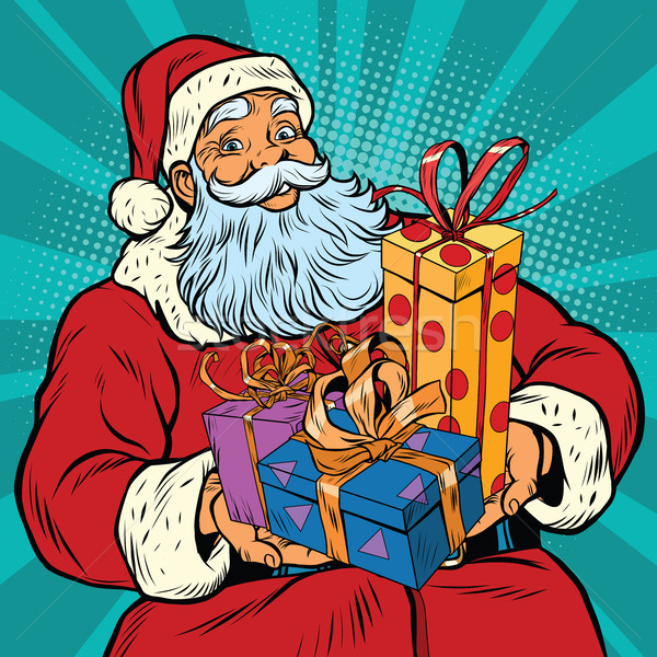 Santa Claus with Christmas gifts Stock photo © rogistok