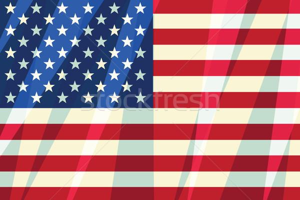 USA banderą gwiazdki amerykański symbol Zdjęcia stock © rogistok