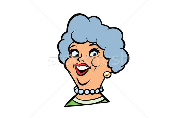 Funny adult woman fashionable grandmother portrait Stock photo © rogistok