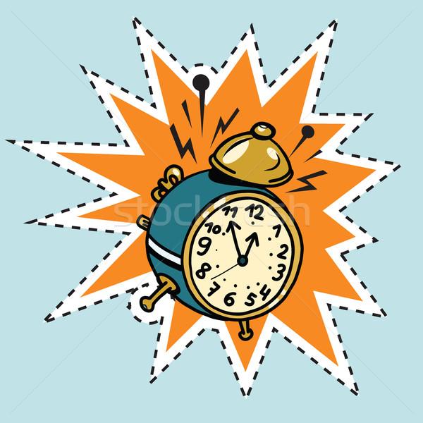 çalar saat halkalar zaman pop art komik örnek Stok fotoğraf © rogistok