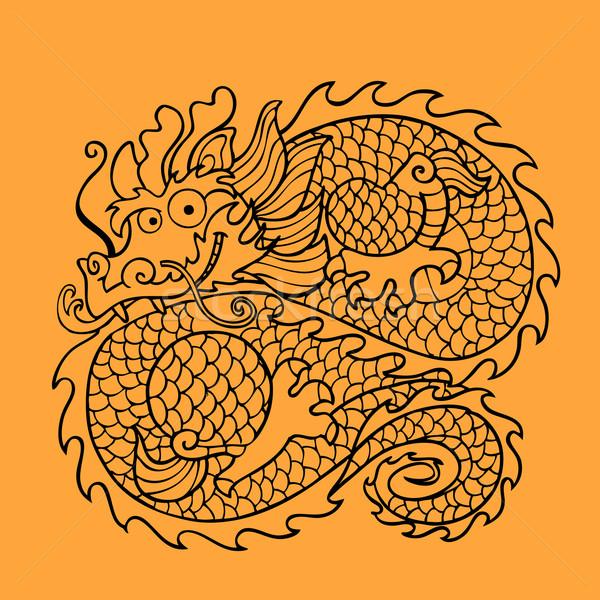 Chinese dragon character Stock photo © rogistok