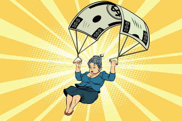 woman Golden parachute financial compensation in the business Stock photo © rogistok