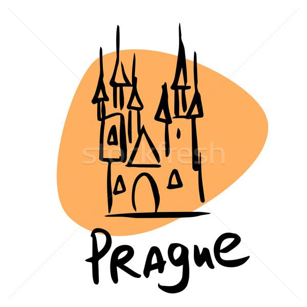 Praga República Checa estilizado imagem cidade turismo Foto stock © rogistok