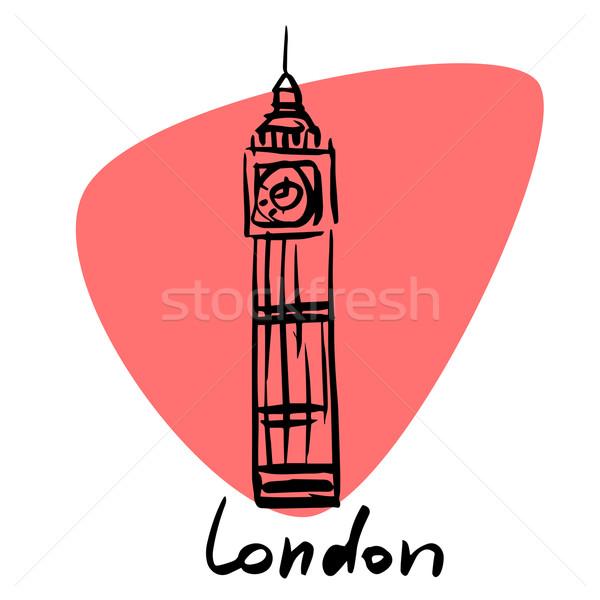 Londra İngiltere stilize görüntü şehir turizm Stok fotoğraf © rogistok