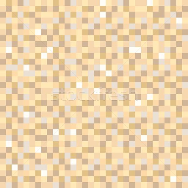 Digital pixel brown seamless pattern background Stock photo © rogistok