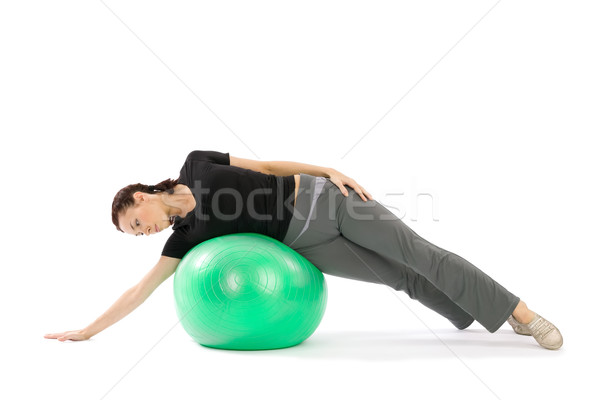 Femme pilates joli jeunes s'adapter pratique Photo stock © rognar