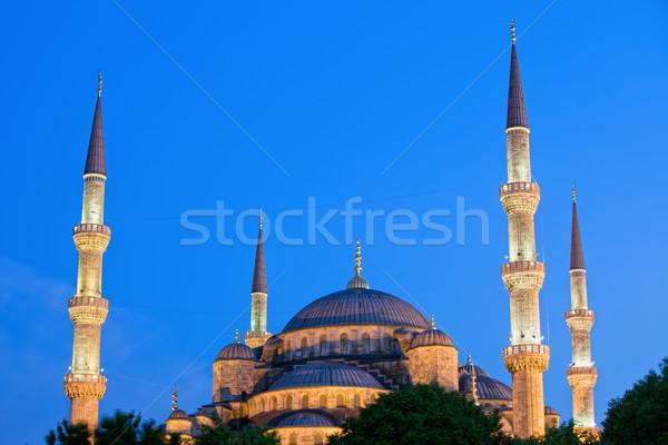 Blue Mosque at Dusk Stock photo © rognar
