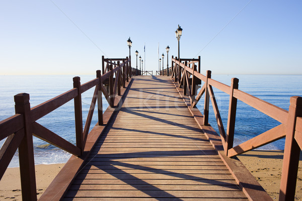 Pier on Costa del Sol in Marbella Stock photo © rognar