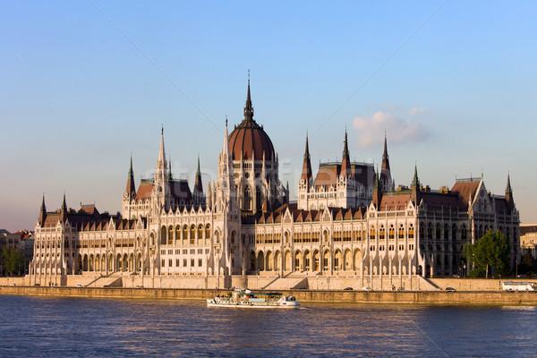 Húngaro parlamento edifício Budapeste gótico renascimento Foto stock © rognar