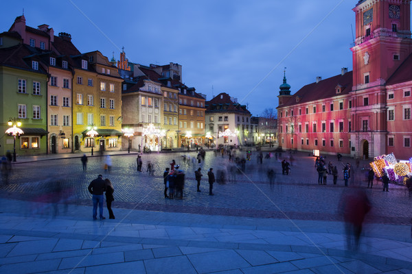 Warsaw by Night in the Old Town Stock photo © rognar