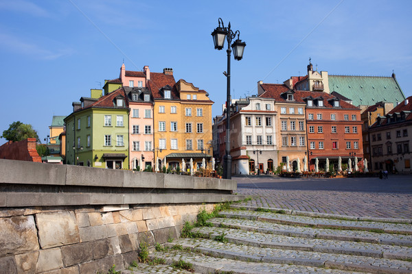 Сток-фото: старый · город · Варшава · домах · Польша · город · путешествия