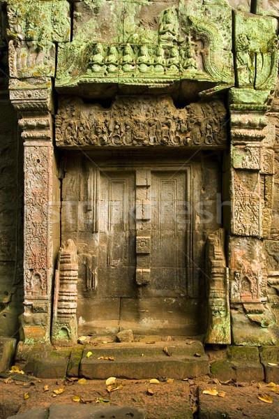 Vak ősi porta dekoratív ajtók bent Stock fotó © rognar