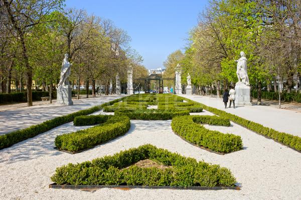 Parku Madryt wiosną Hiszpania charakter podróży Zdjęcia stock © rognar