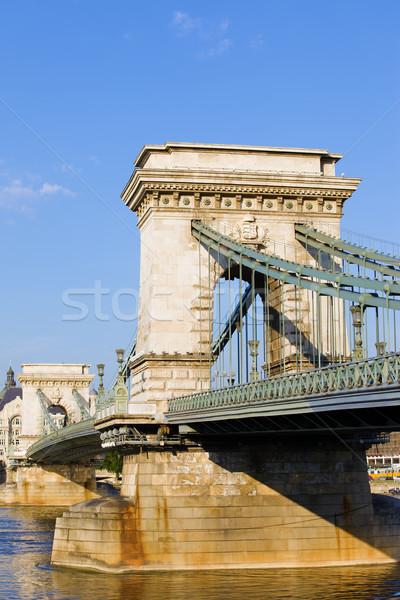 Szechenyi Chain Bridge in Budapest Stock photo © rognar