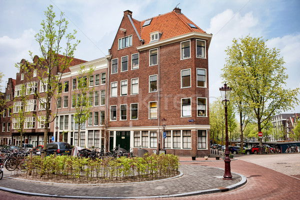 Traditional Apartment Houses in Amsterdam Stock photo © rognar