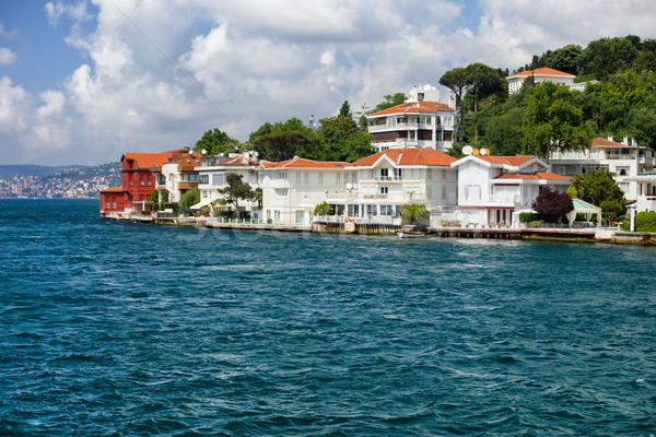 Budynku morza budynków czerwony architektury domów Zdjęcia stock © rognar