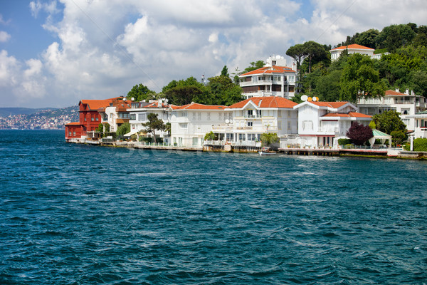 Villas Along The Bosphorus Strait Stock photo © rognar
