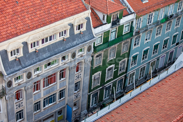 Casas Lisboa edad apartamento edificios Foto stock © rognar