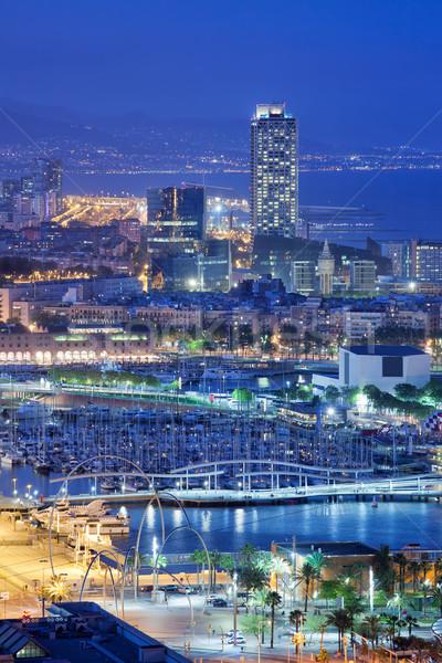 City of Barcelona at Night Stock photo © rognar