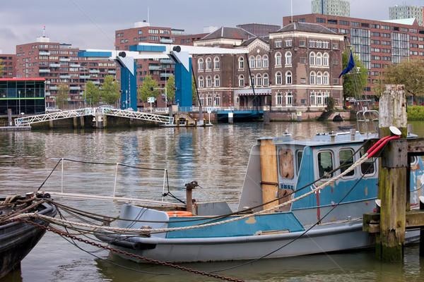 şehir rotterdam kentsel manzara nehir köprü Stok fotoğraf © rognar