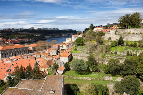 Cityscape Portekiz belediyeye ait bahçe manzara kentsel Stok fotoğraf © rognar