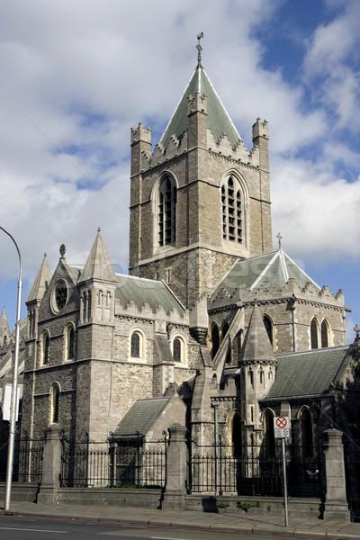 Katedral Mesih kilise mimari Dublin Stok fotoğraf © rognar