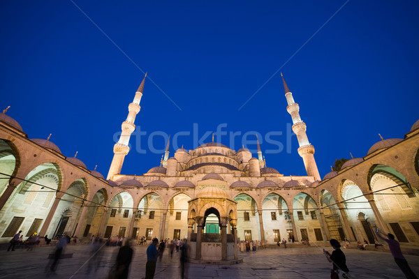Blue Mosque at Night Stock photo © rognar