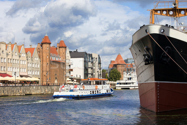 şehir gdansk Polonya manzaralı nehir su Stok fotoğraf © rognar